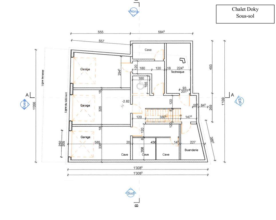 Plan sous sol luxury homes immobilier crans for Plan sous sol